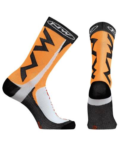 Calcetines Northwave Extreme Tech Plus Naranja Fluor
